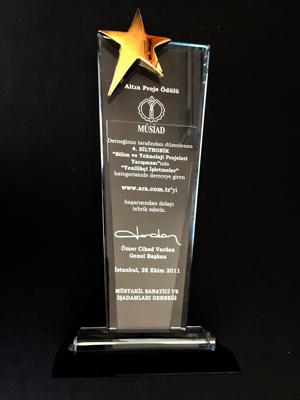 İsmail hakkı YILDIZ Müsiad Altın Proje  Ödülü